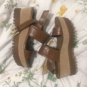 Micheal by Micheal Kors Chunky Platform Sandals